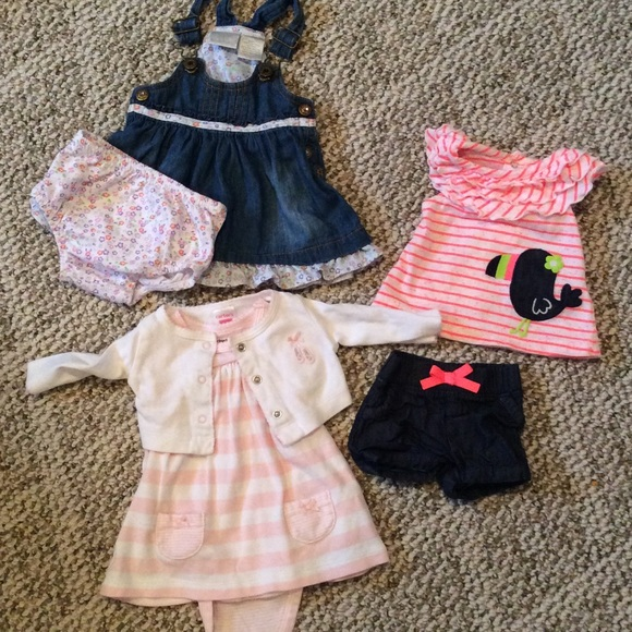 Carter S Matching Sets Adorable Newborn Baby Girl Outfit Bundle